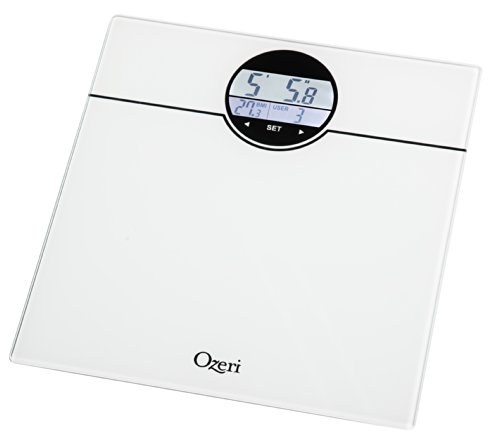 Digital Bathroom Scales For Sale: Ozeri ZB21-W WeightMaster 400 Lbs Digital Bath Scale With