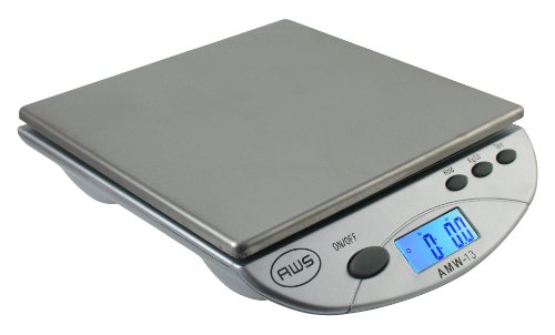 American weigh scales silver amw13 sl digital postal for Perfect drink pro scale