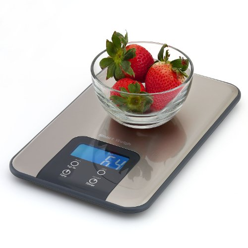 Smart weigh digital kitchen scale and timer food scale for Drop kitchen scale review
