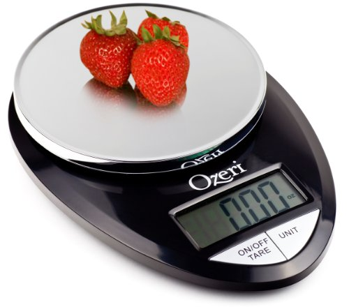 ozeri pro digital kitchen food scale 1g to 12 lbs capacity in stylis