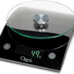 Ozeri The Epicurean LED Kitchen Scale with Removable Glass Weighing Platform, 18-Pound, Black